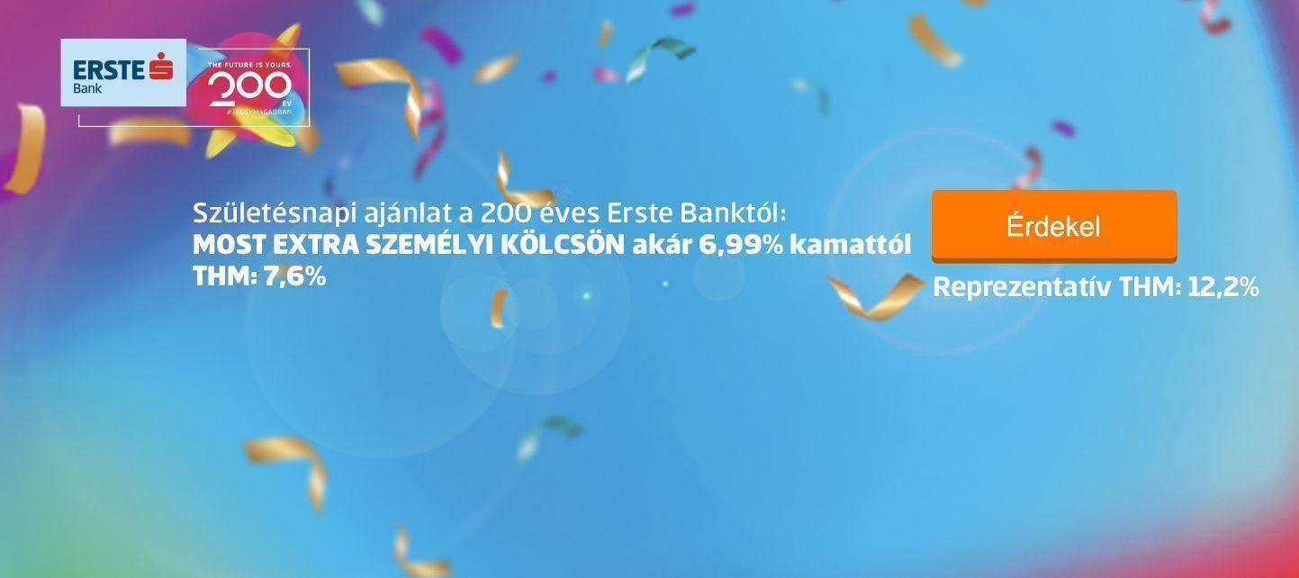Erste Bank személyi kölcsön banner november