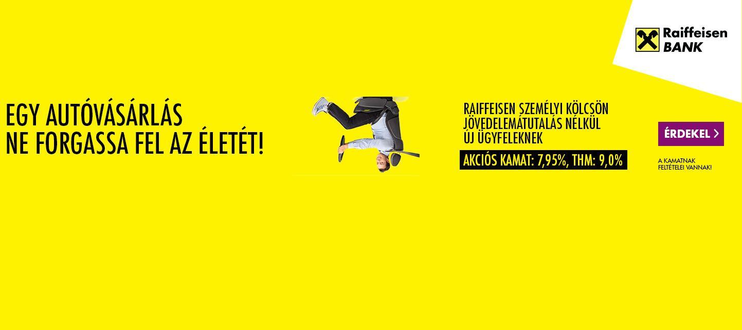 Raiffeisen személyi kölcsön banner november